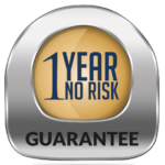mission ac and plumbing 1 year no risk guarantee badge
