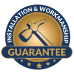 mission air conditioning and plumbing installation and workmanship guarantee badge